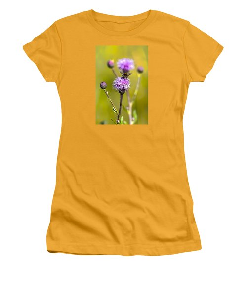 Women's T-Shirt (Junior Cut) featuring the photograph Bumblebee Aug 2015 by Leif Sohlman