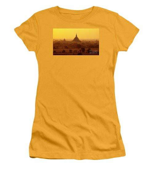 Women's T-Shirt (Junior Cut) featuring the photograph Burma_d2227 by Craig Lovell