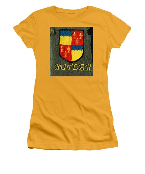 Women's T-Shirt (Junior Cut) featuring the painting Butler Family Shield by Barbara McDevitt