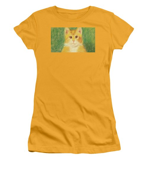Women's T-Shirt (Athletic Fit) featuring the drawing Buttercup by Denise Fulmer