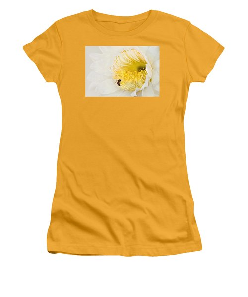 Women's T-Shirt (Junior Cut) featuring the photograph Cactus Flower Diner No. 2 by Joe Bonita