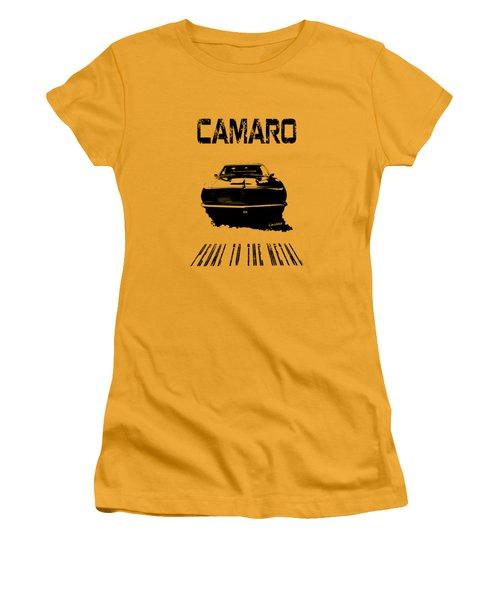 Camaro Ss - Pedal To The Metal Women's T-Shirt (Junior Cut) by Kim Gauge