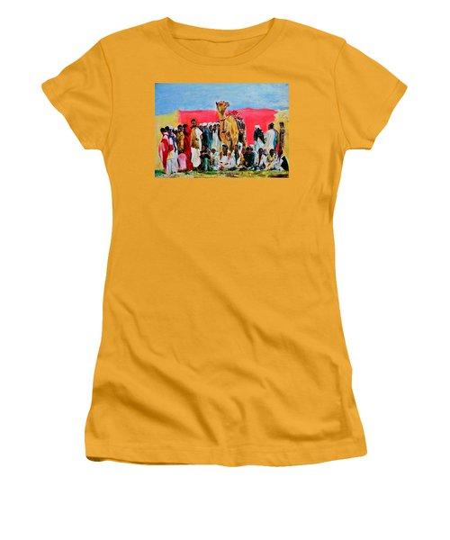 Camel Festival Women's T-Shirt (Junior Cut) by Khalid Saeed