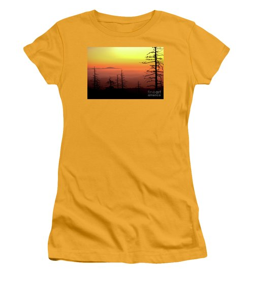 Women's T-Shirt (Junior Cut) featuring the photograph Candy Corn Sunrise by Douglas Stucky