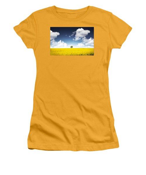 Canola Field Women's T-Shirt (Athletic Fit)