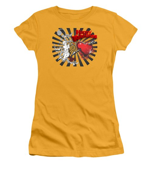 Card Valentine Cherub Women's T-Shirt (Junior Cut) by Robert G Kernodle