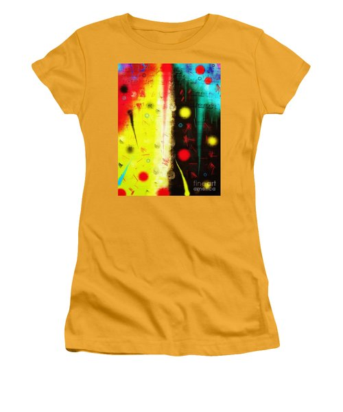 Women's T-Shirt (Athletic Fit) featuring the digital art Carnival by Silvia Ganora