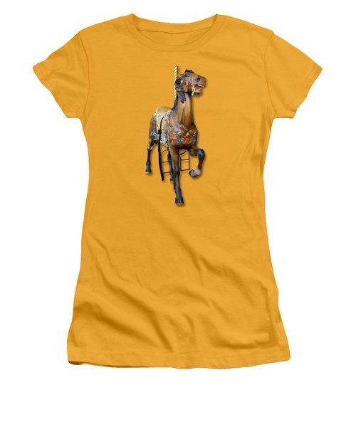 Carousel Horse Women's T-Shirt (Junior Cut) by Bob Slitzan