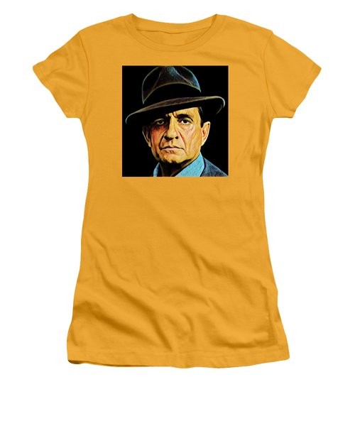 Cash With Hat Women's T-Shirt (Junior Cut)