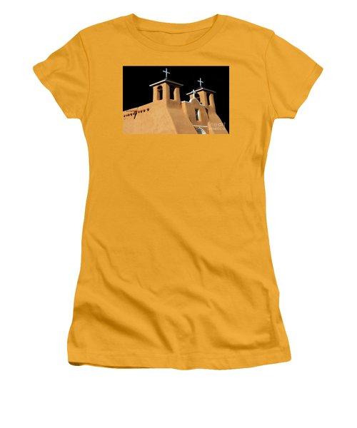 Women's T-Shirt (Junior Cut) featuring the photograph St Francis De Assi Church  New Mexico by Bob Christopher