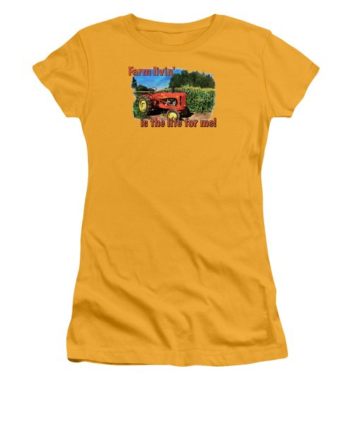 Charlie The Tractor Women's T-Shirt (Junior Cut) by Richard Farrington