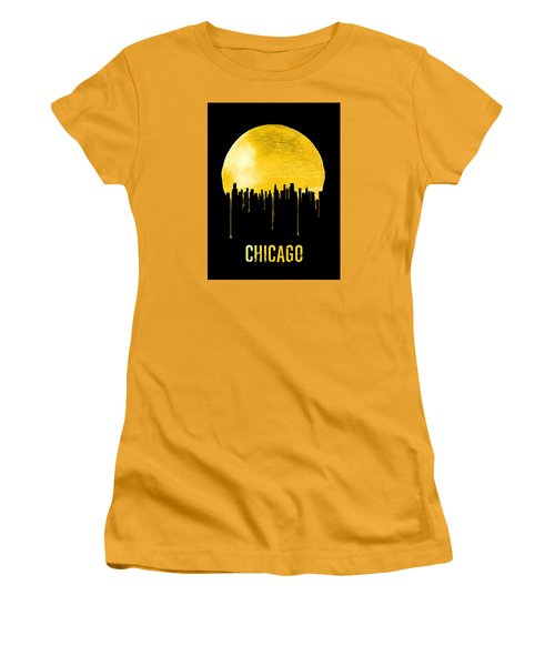 Chicago Skyline Yellow Women's T-Shirt (Athletic Fit)