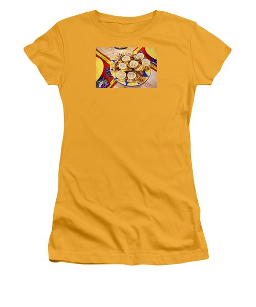Chicken With Lemon Women's T-Shirt (Junior Cut) by Jana Russon