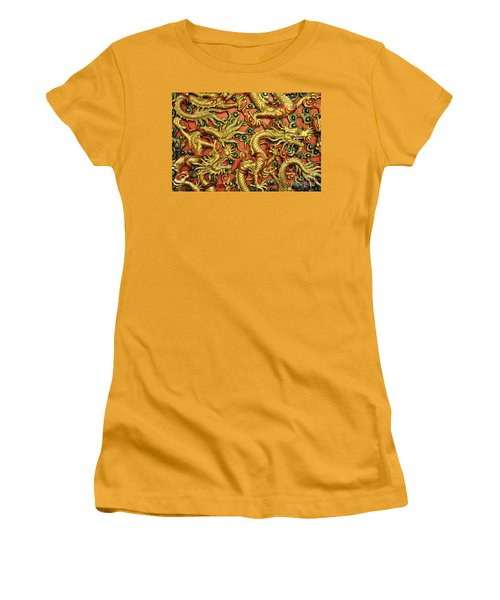 Chinese Dragons Women's T-Shirt (Athletic Fit)