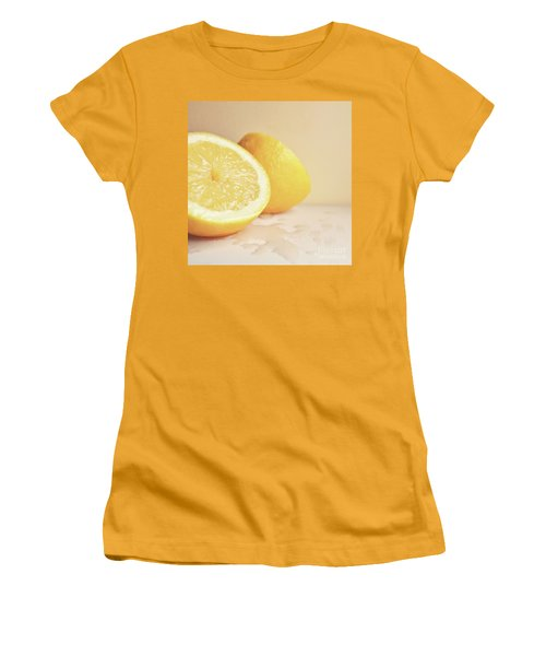 Chopped Lemon Women's T-Shirt (Junior Cut) by Lyn Randle