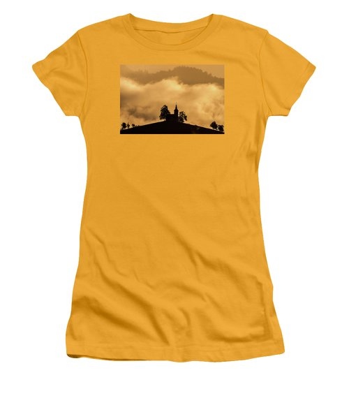 Women's T-Shirt (Athletic Fit) featuring the photograph Church Of St. Thomas #2 - Slovenia by Stuart Litoff