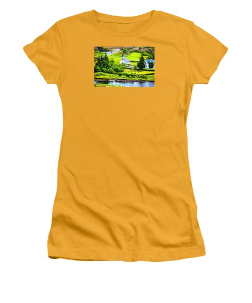 Women's T-Shirt (Junior Cut) featuring the photograph Church On The Green by Rick Bragan