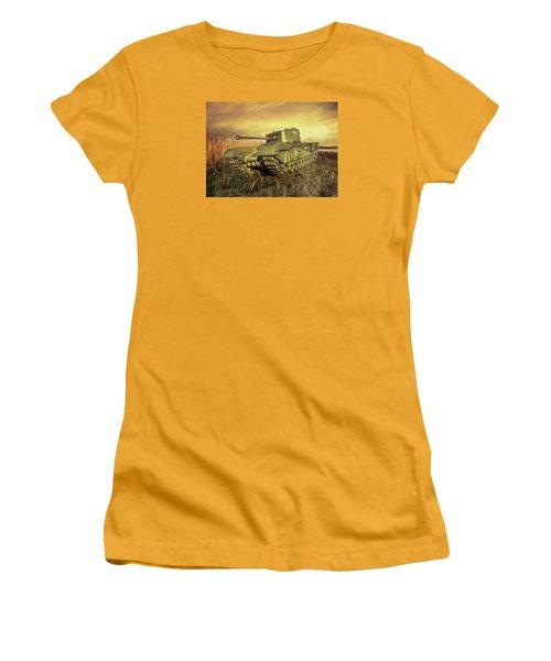 Churchill Tank Women's T-Shirt (Junior Cut) by Roy McPeak