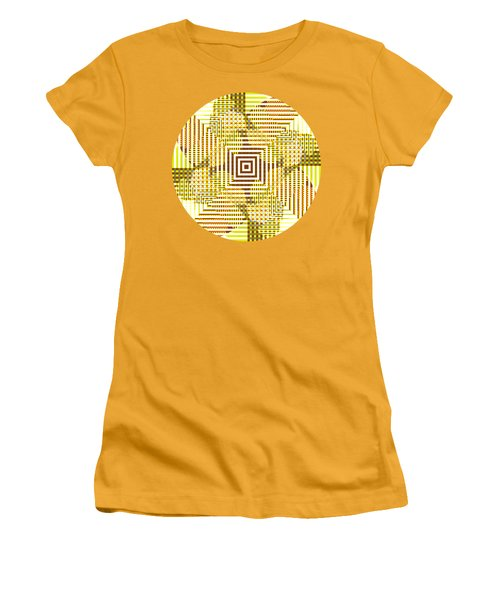 Circle And Square Abstract Women's T-Shirt (Athletic Fit)
