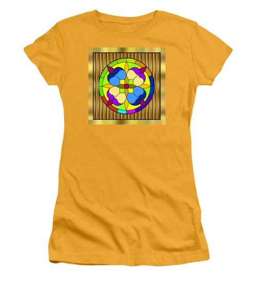 Circle On Bars 3 Women's T-Shirt (Junior Cut) by Chuck Staley