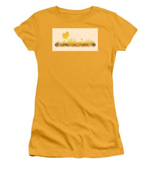 City Of Love Women's T-Shirt (Junior Cut) by Anton Kalinichev