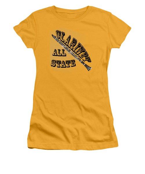 Clarinet All State Women's T-Shirt (Junior Cut) by M K  Miller