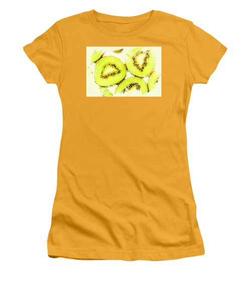 Close Up Of Kiwi Slices Women's T-Shirt (Junior Cut) by Jorgo Photography - Wall Art Gallery