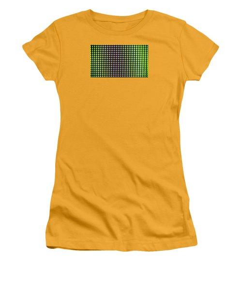 Women's T-Shirt (Junior Cut) featuring the photograph Clouseup Of The Plasma Tv Screen by Odon Czintos