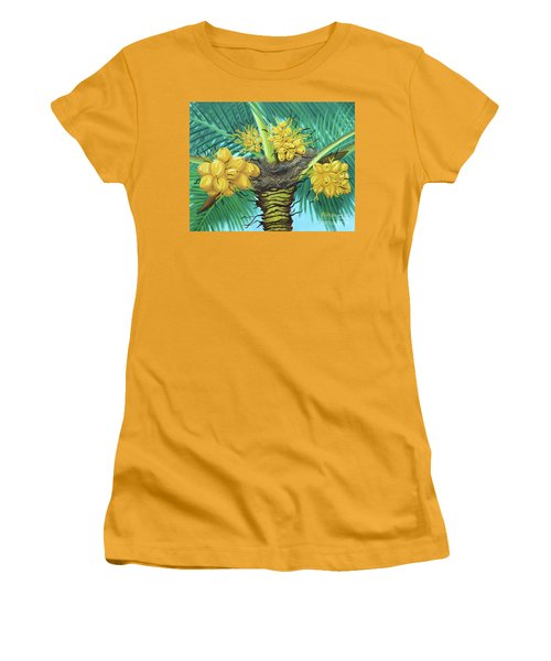 Coconut Palms Women's T-Shirt (Athletic Fit)