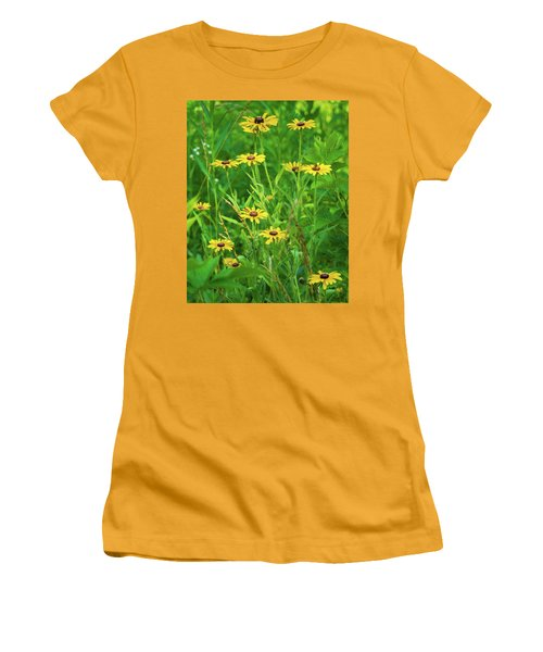 Women's T-Shirt (Junior Cut) featuring the photograph Collection In The Clearing by Bill Pevlor