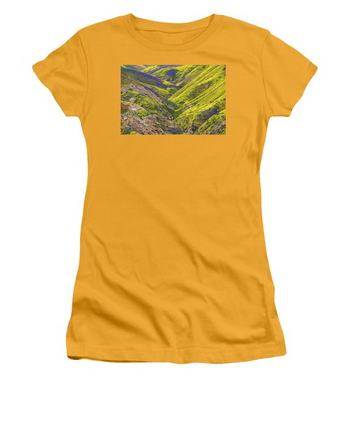 Women's T-Shirt (Junior Cut) featuring the photograph Color Valley by Peter Tellone