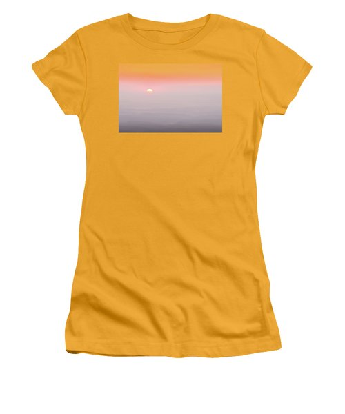 Colorful And Smoky Carolina Sunrise Women's T-Shirt (Athletic Fit)