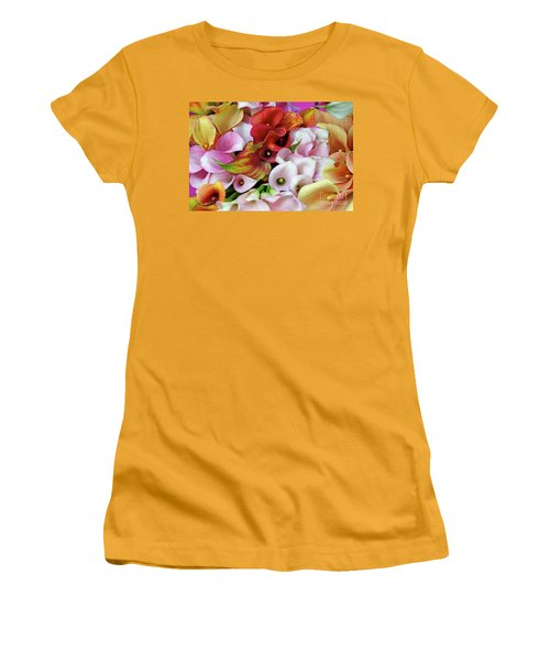 Colorful Calla Lilies Women's T-Shirt (Athletic Fit)