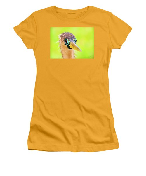 Colorful Female Anhinga Women's T-Shirt (Athletic Fit)