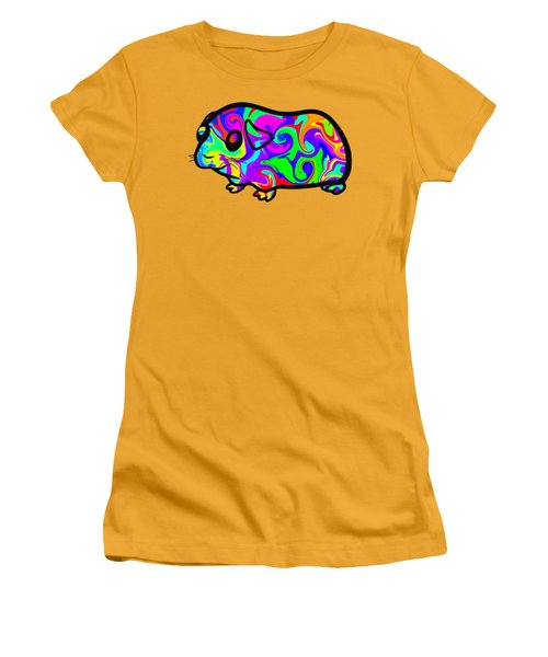 Colorful Guinea Pig Women's T-Shirt (Junior Cut) by Chris Butler
