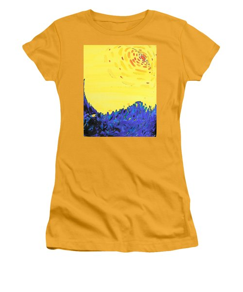 Women's T-Shirt (Junior Cut) featuring the painting Comet by Lenore Senior