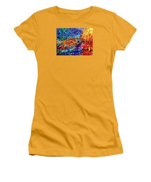 Composition # 5. Series Abstract Sunsets Women's T-Shirt (Junior Cut) by Helen Kagan
