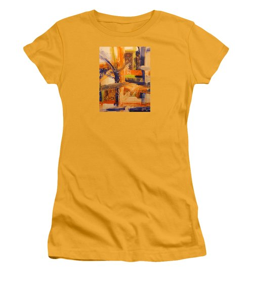 Women's T-Shirt (Junior Cut) featuring the painting Composition Orientale No 5 by Walter Fahmy