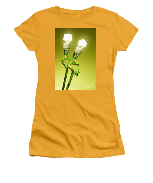 Women's T-Shirt (Junior Cut) featuring the photograph Conceptual Lamps by Carlos Caetano