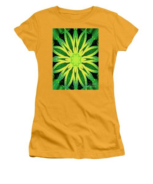 Women's T-Shirt (Athletic Fit) featuring the digital art Contemporary Mathematical 4-8-16 Octangular Art by Merton Allen