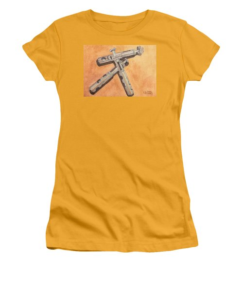 Corroded Trumpet Pistons Women's T-Shirt (Athletic Fit)