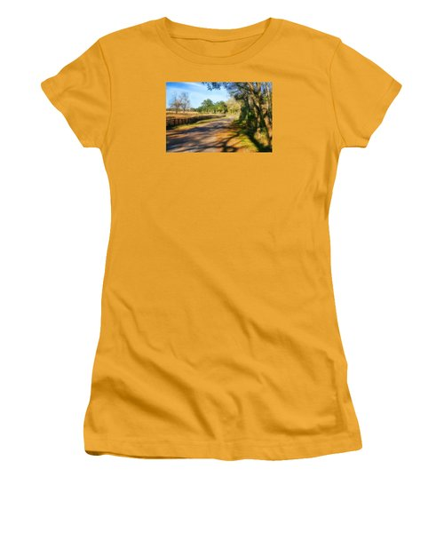 Women's T-Shirt (Junior Cut) featuring the photograph Country Road by Joan Bertucci