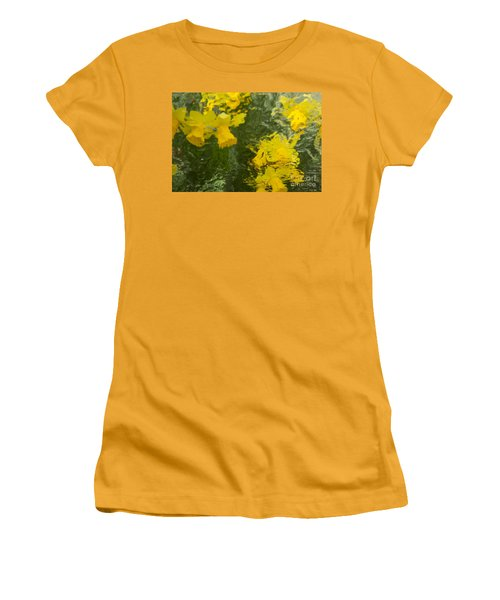 Daffodil Impressions Women's T-Shirt (Junior Cut) by Jeanette French