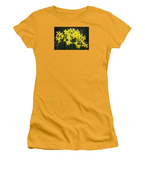 Daffodil Yellow Women's T-Shirt (Junior Cut) by Shirley Mitchell