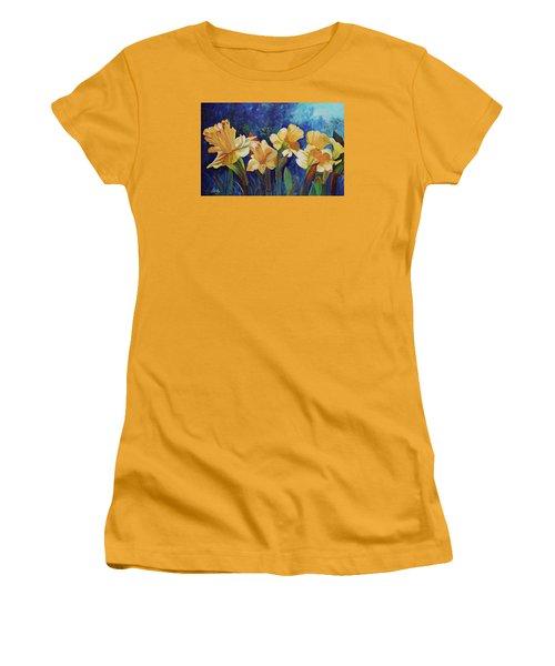 Daffodils Women's T-Shirt (Junior Cut) by Alika Kumar