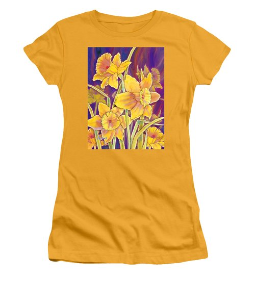 Daffodils Women's T-Shirt (Junior Cut) by Teresa Ascone