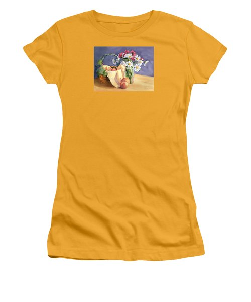 Daisies And Peaches Women's T-Shirt (Athletic Fit)