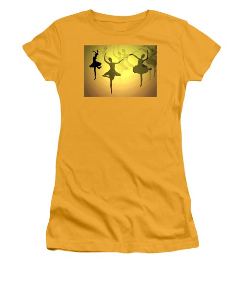Women's T-Shirt (Junior Cut) featuring the photograph Dance With Us Into The Light by Joyce Dickens