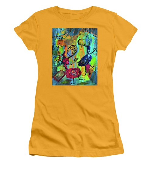 Dancers Abstract Women's T-Shirt (Athletic Fit)