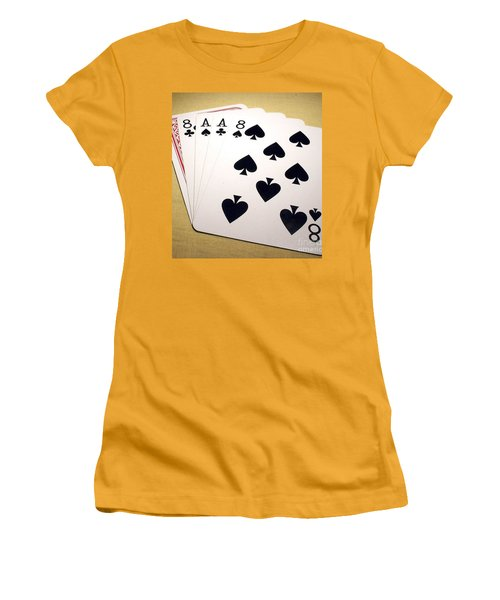 Women's T-Shirt (Junior Cut) featuring the photograph Dead Mans Hand by Pg Reproductions